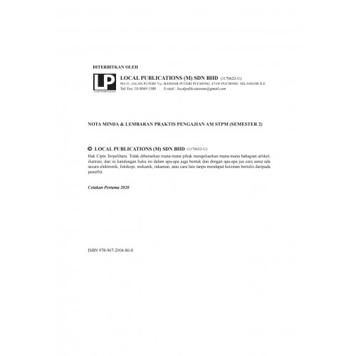 Nota Minda & Lembaran Praktis Pengajian Am STPM (SEMESTER 2)