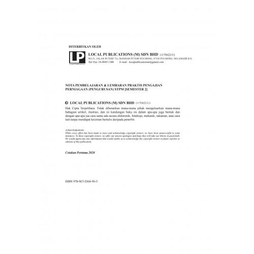 Nota Pembelajaran & Lembaran Praktis Pengajian Perniagaan (Pengurusan) STPM [Semester 2]
